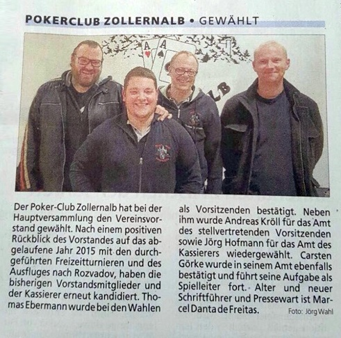 Zollernalb-Kurier 7.1.2016 - Jahreshauptversammlung 2015